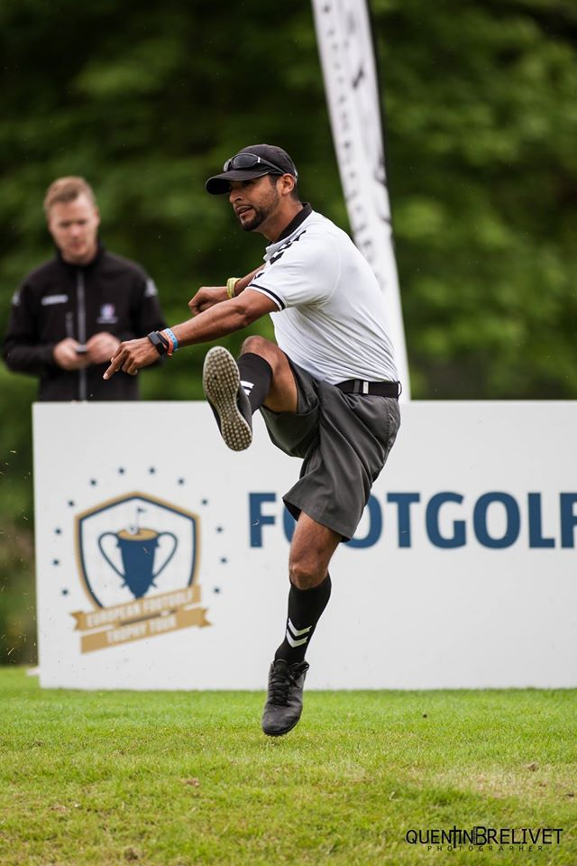 Arturo Barragan lors de l'Open de France 2016 (crédit : footgolf-france.fr)