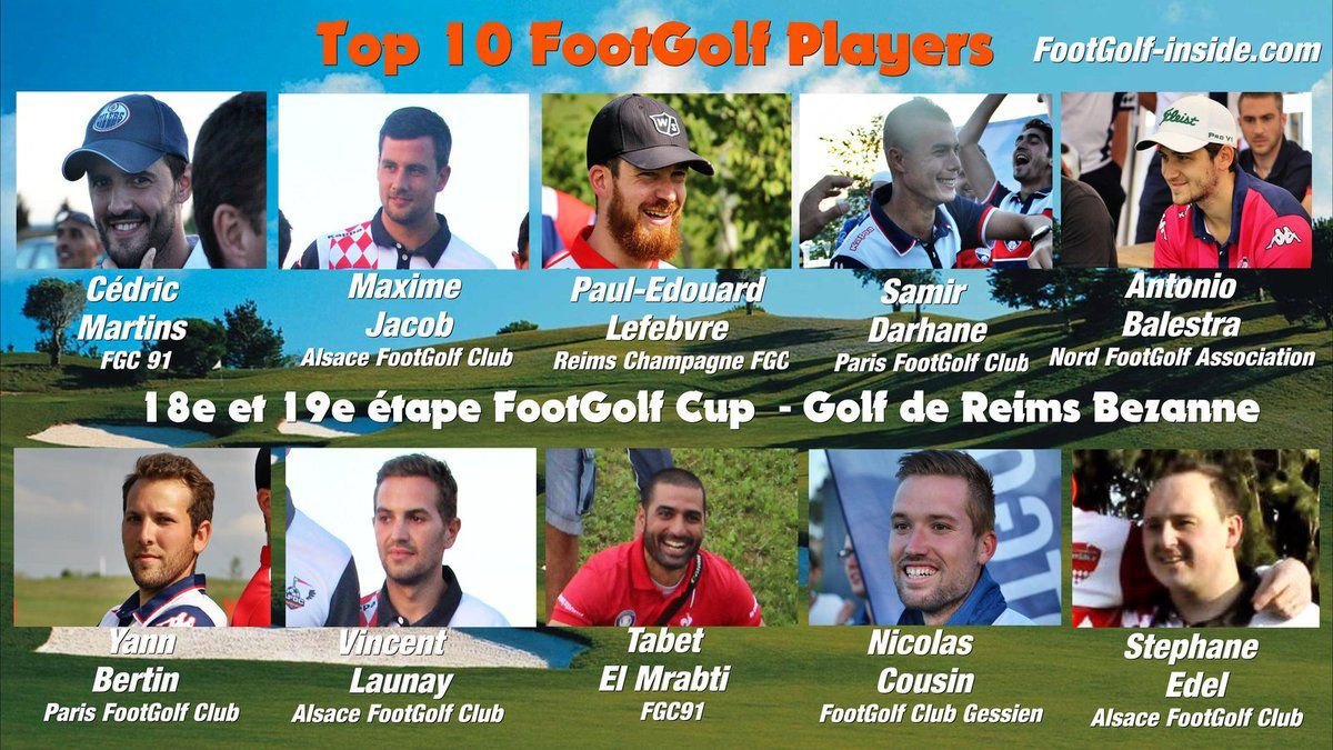 Top 5 FootGolf Players Reims 2016