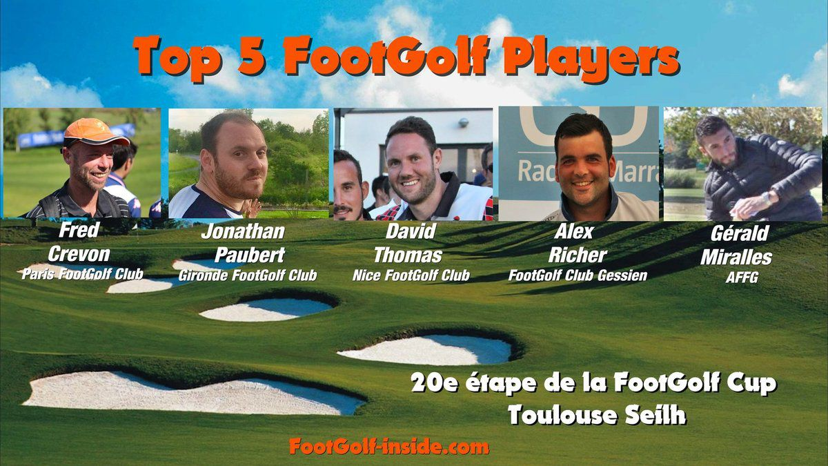 Top 5 FootGolf Players - Toulouse 2016