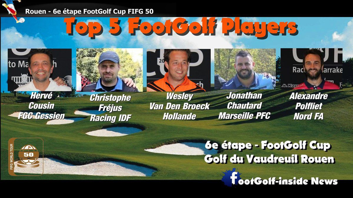 Top 5 Rouen FootGolf Cup FIFG 50