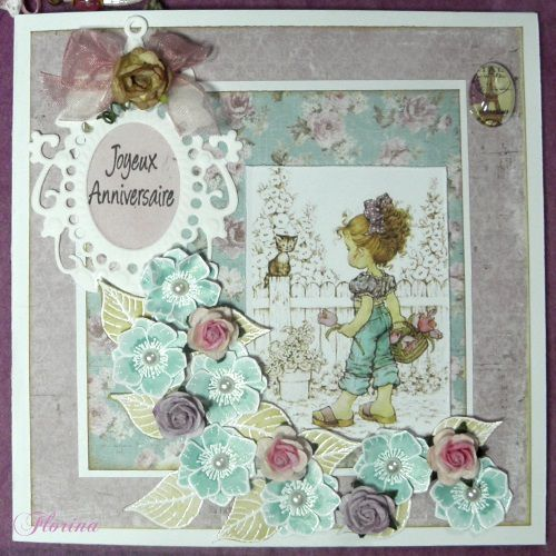 cartes en scrapbooking printemps
