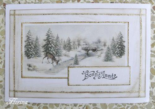 deux cartes de la nativité et une de vœux