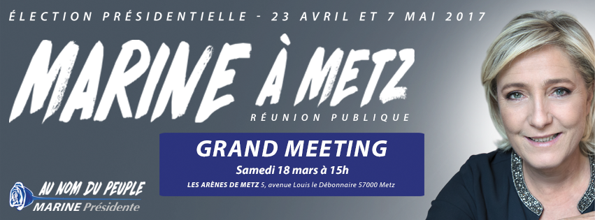 Marine à Metz, samedi 18 mars