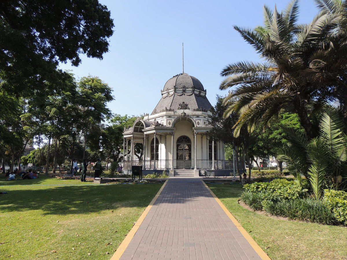Le Parc des Expositions, empruntant le style des capitales européennes, fait office de poumon vert.