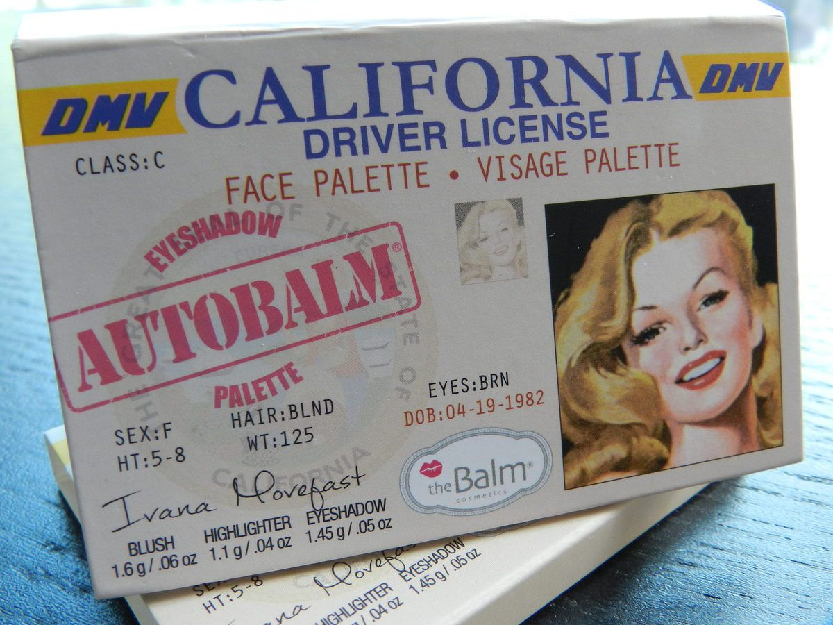 Autobalm California - Une palette signée The Balm