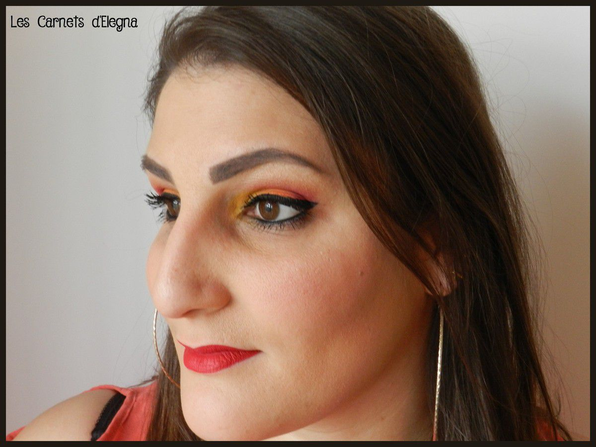 Sunset Make-Up pour le Monday Shadow Challenge