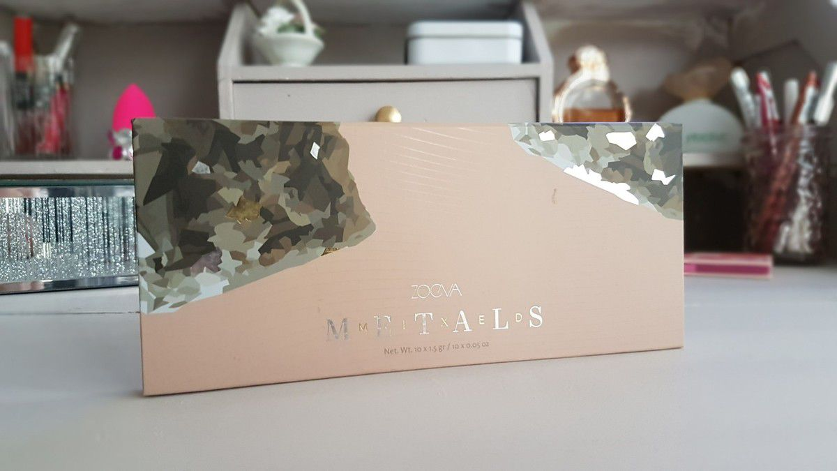 Une palette, Trois Make-Up: Palette Mixed Metals de Zoeva