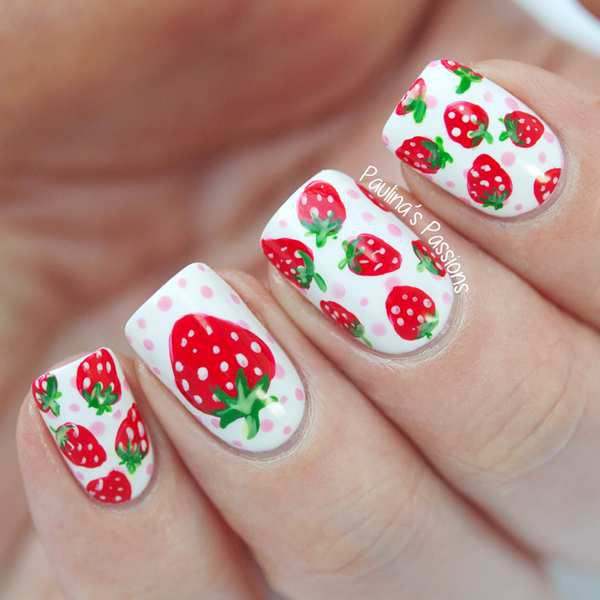 Lovely Nails With Strawberries