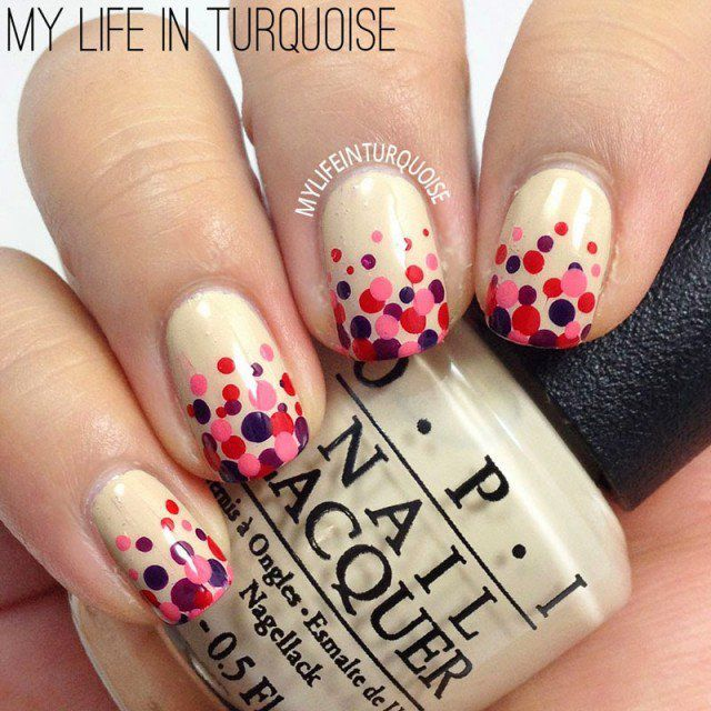 Fascinating Dotted Nails