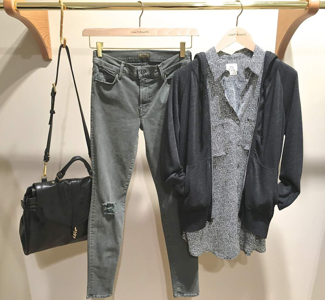 Sac VELVETINE - Jean MOTHER - Chemise ATTIC AND BARN - Gilet JAMES PERSE