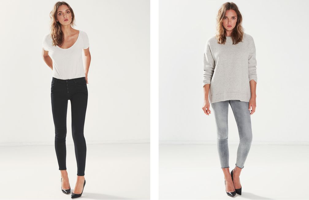 PIXIE Not Guilty - HIGH WAISTED LOOKER ANKLE FRAY Grim Shadows