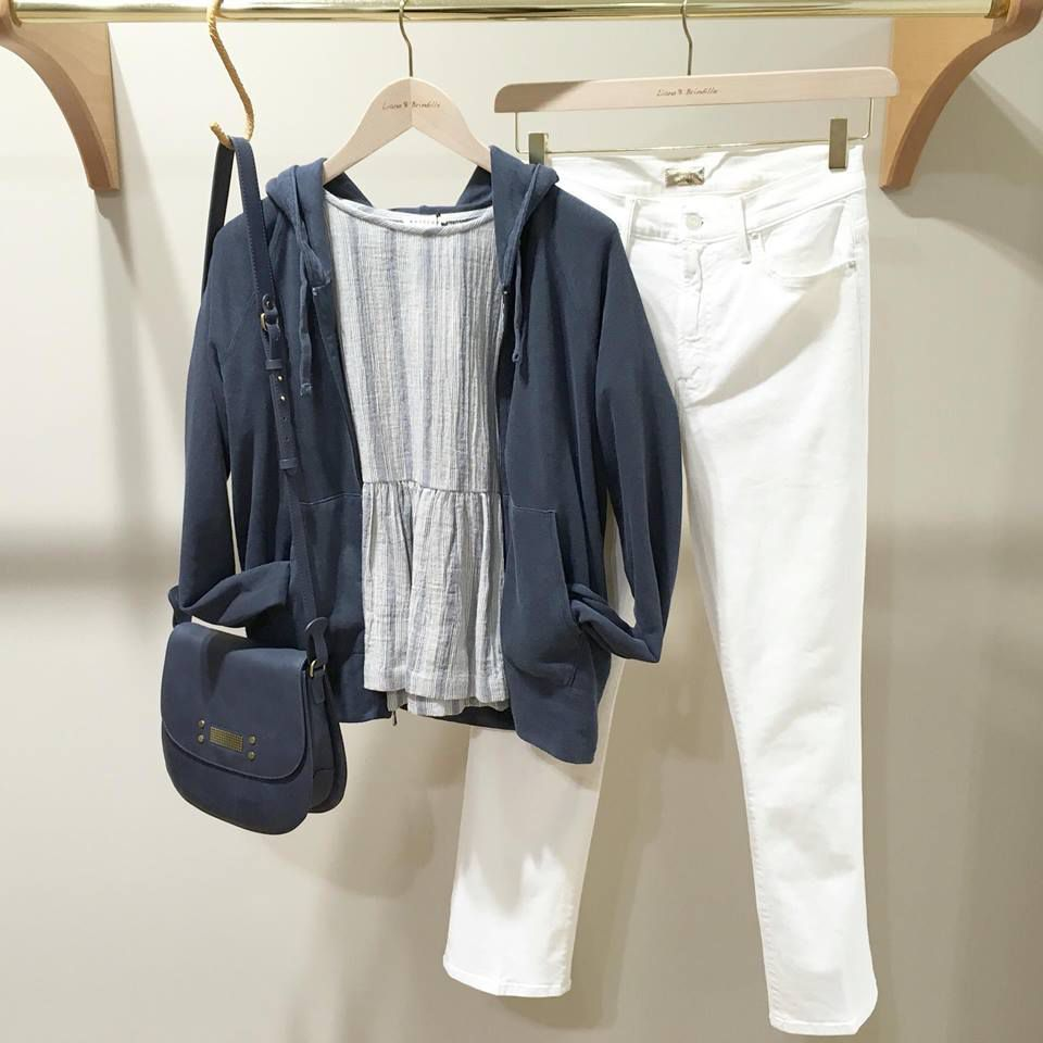 Sac CLIO GOLDBRENNER - Gilet JAMES PERSE - Blouse MASSCOB - Jean MOTHER DENIM