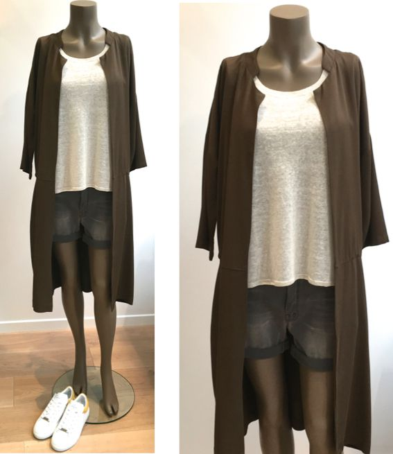 Manteau HUMANOID - Pull FINE PARIS - Short MOTHER - Baskets CLIO GOLDBRENNER