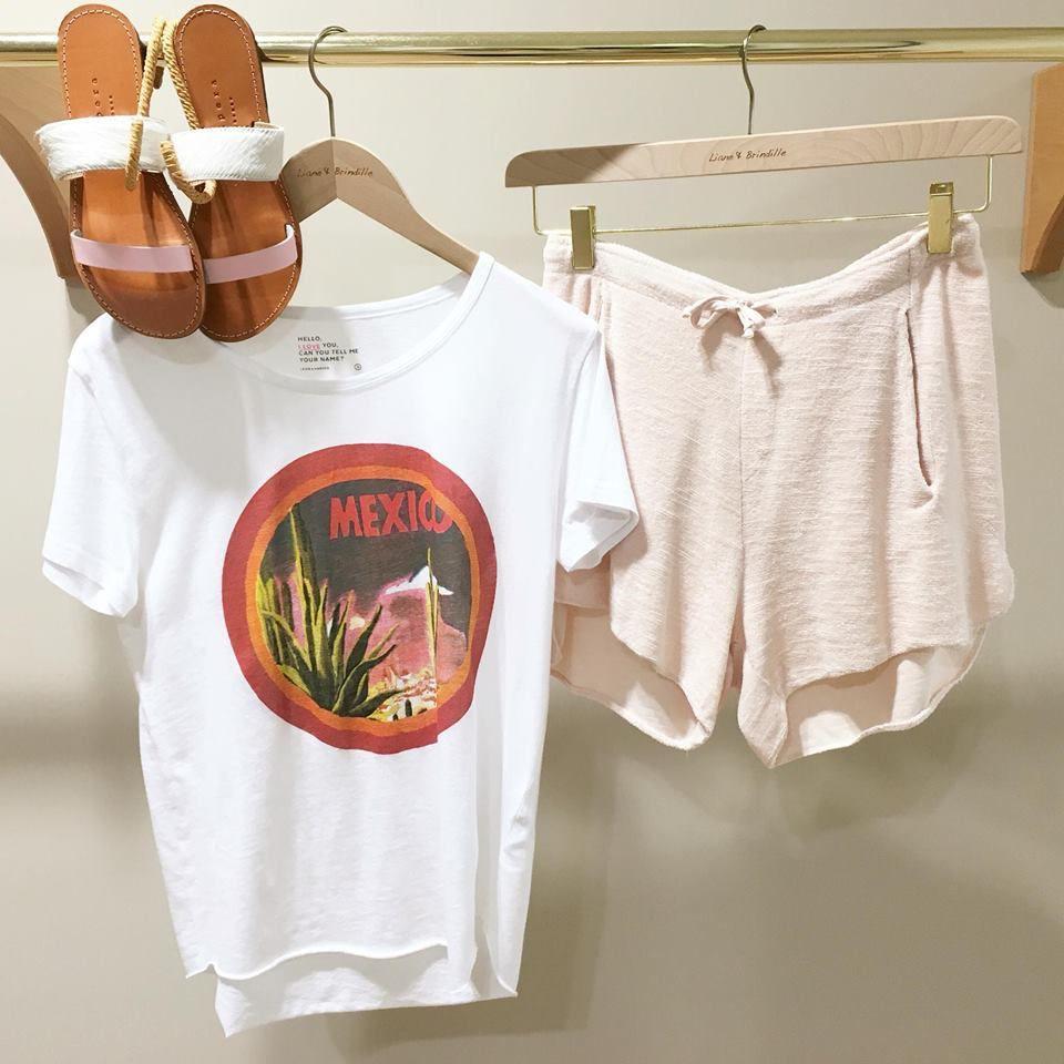 Sandales ISAPERA - T-shirt LÉON & HARPER - Short RABENS SALONER