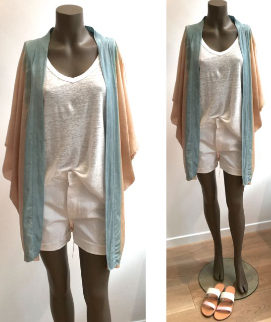 Kimono RABENS SALONER - T-shirt FINE PARIS - Short MOTHER - Sandales ISAPERA