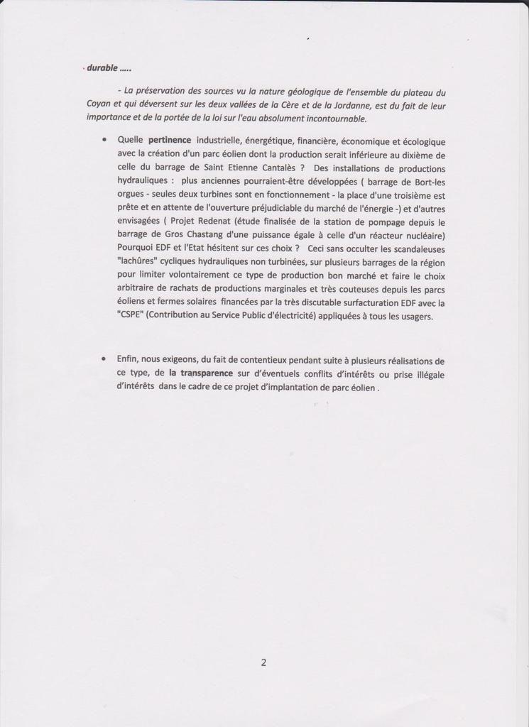 Contribution du PG15 à l'enquête publique.