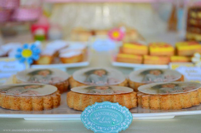 Sablés vanillés avec cercle en sucre à l'image de Leila