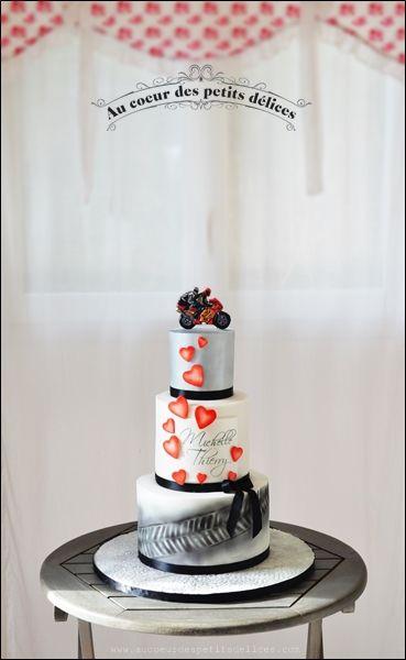 Wedding cake thème moto