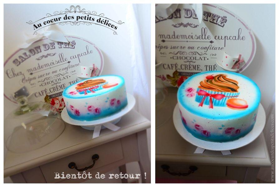 Gâteau décoré au airbrush