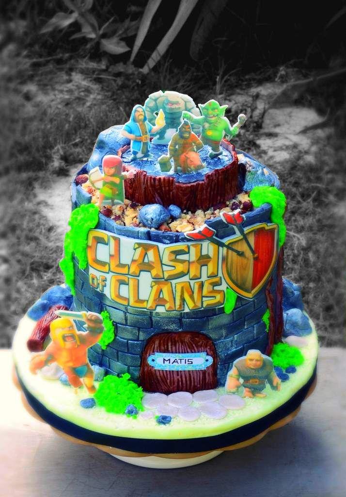 Gâteau d'anniversaire &quot&#x3B;Clash of clans&quot&#x3B;