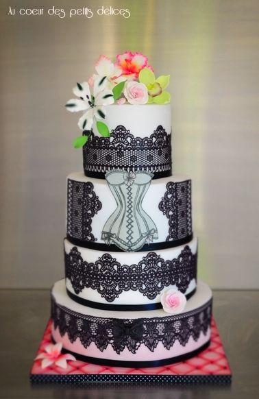 Gâteau d'anniversaire Boudoir glam' chic