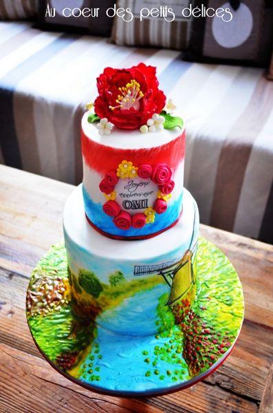 Gâteau d'anniversaire thème Pays Bas
