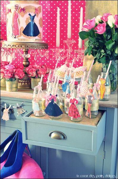 Sweet table &quot&#x3B;Paper dolls&quot&#x3B; pour mon anniversaire!