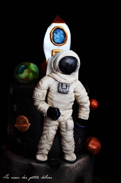 Gâteau d'anniversaire Astronaute