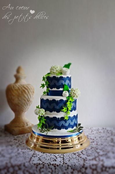 Wedding cake bohème liberty