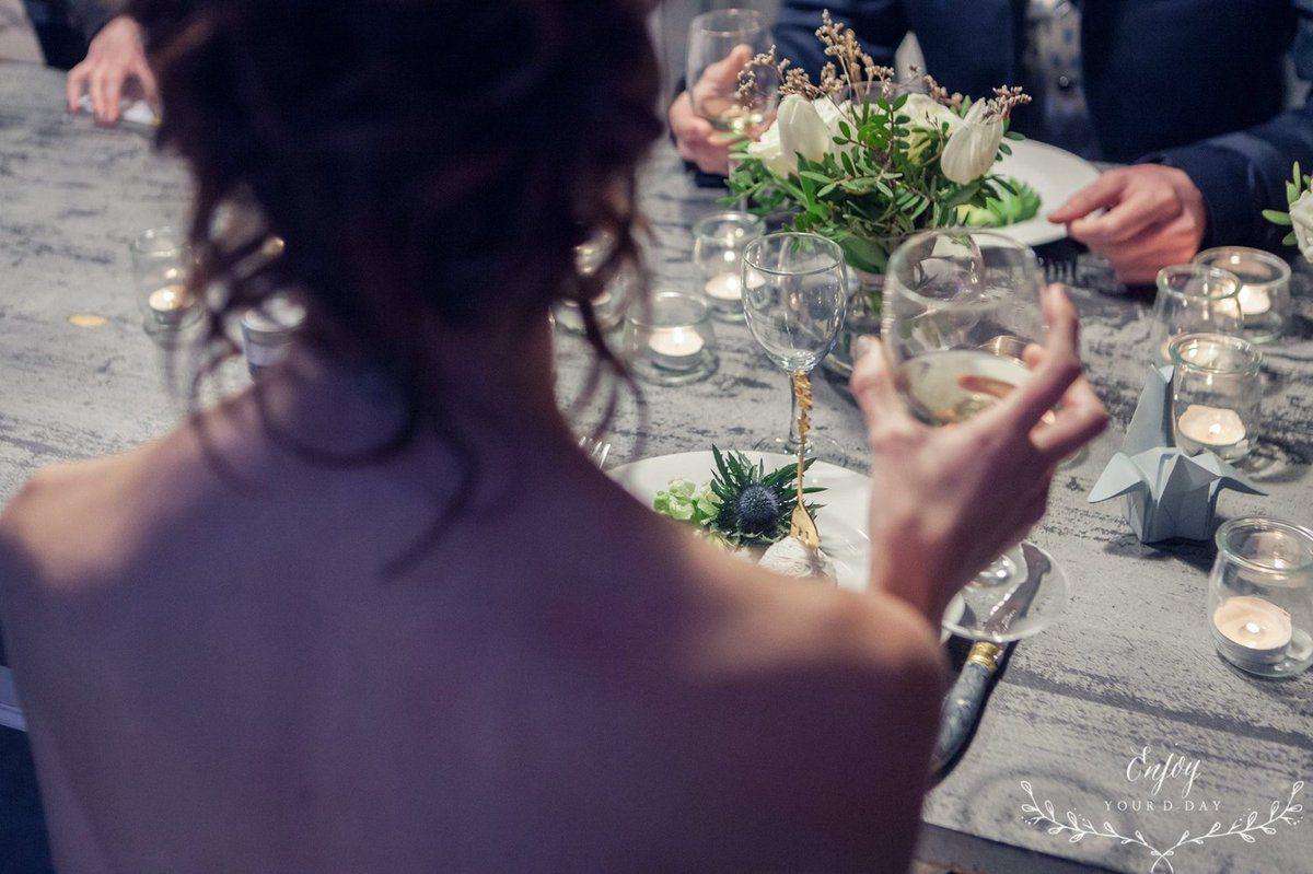 Mariage romantisme et douceur d' hiver