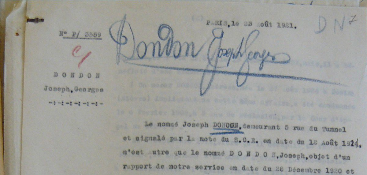 DONDON Joseph, Georges.