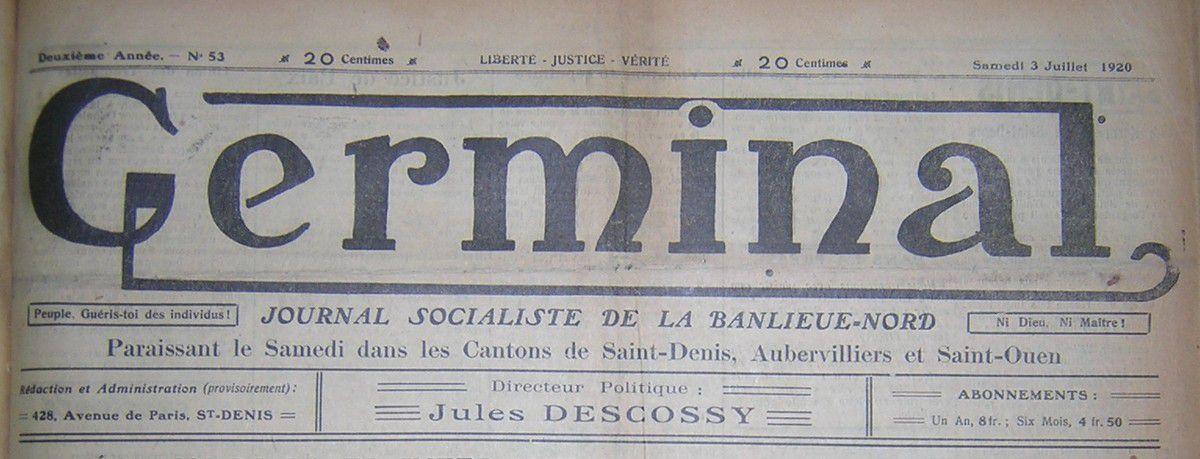 La naissance du parti communiste vue de Saint Denis