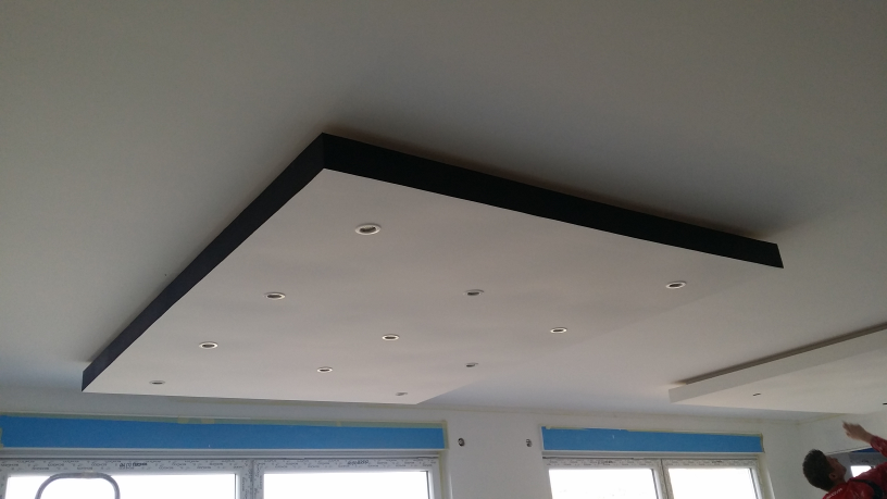 Plafond salle manger construction maison rt2012 de for Creer un faux plafond suspendu