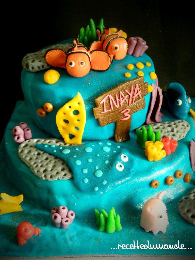 G teaux nemo 3d p te amande nemo 39 s cake inaya 3ans - Deco gateau pate d amande ...