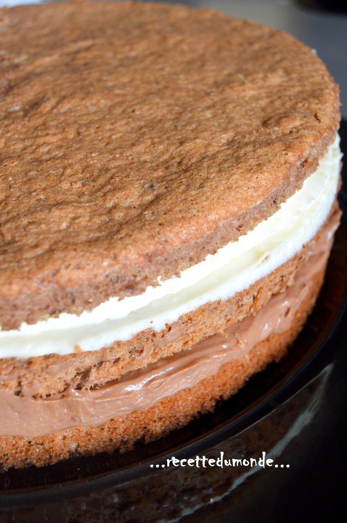 cake raffaelo cr 232 me coco et mousse nutella recette du monde