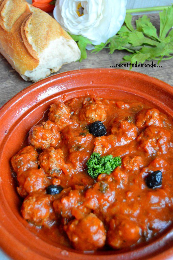 Boulettes kefta à la tomate