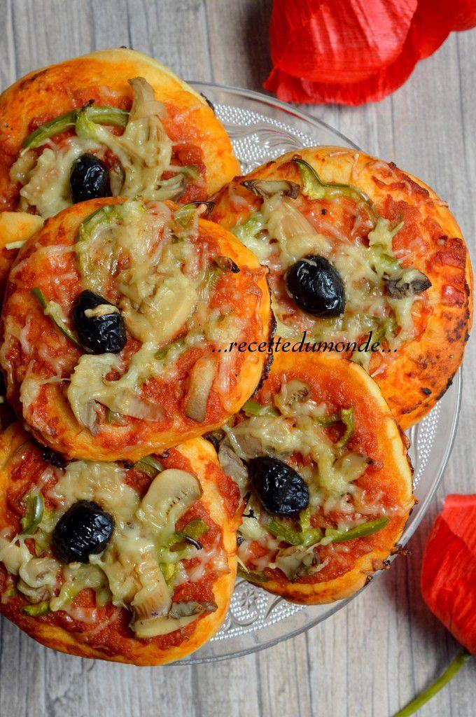 Mini pizza pâte semoule