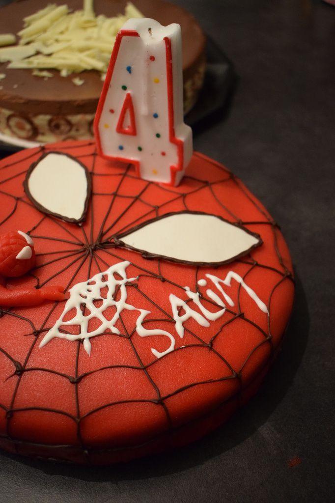 Gâteau Spiderman pour les 4 ans de mon neveu Salim !