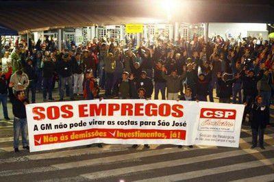 La grève obtient l'annulation de 800  licenciements chez General  Motors au Brésil