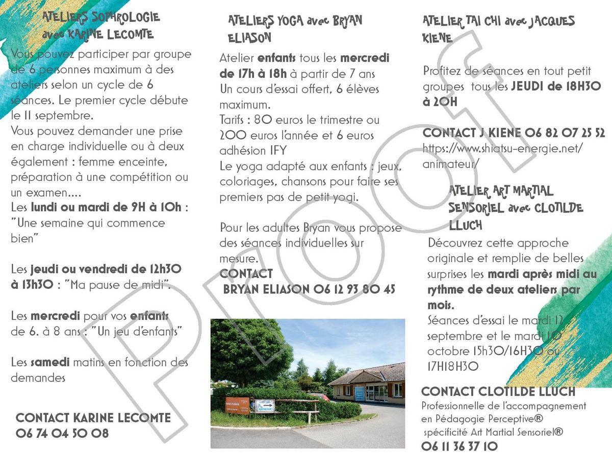 ESPACE PLÉIADE Le Grand Serre :  les ateliers 2017/2018