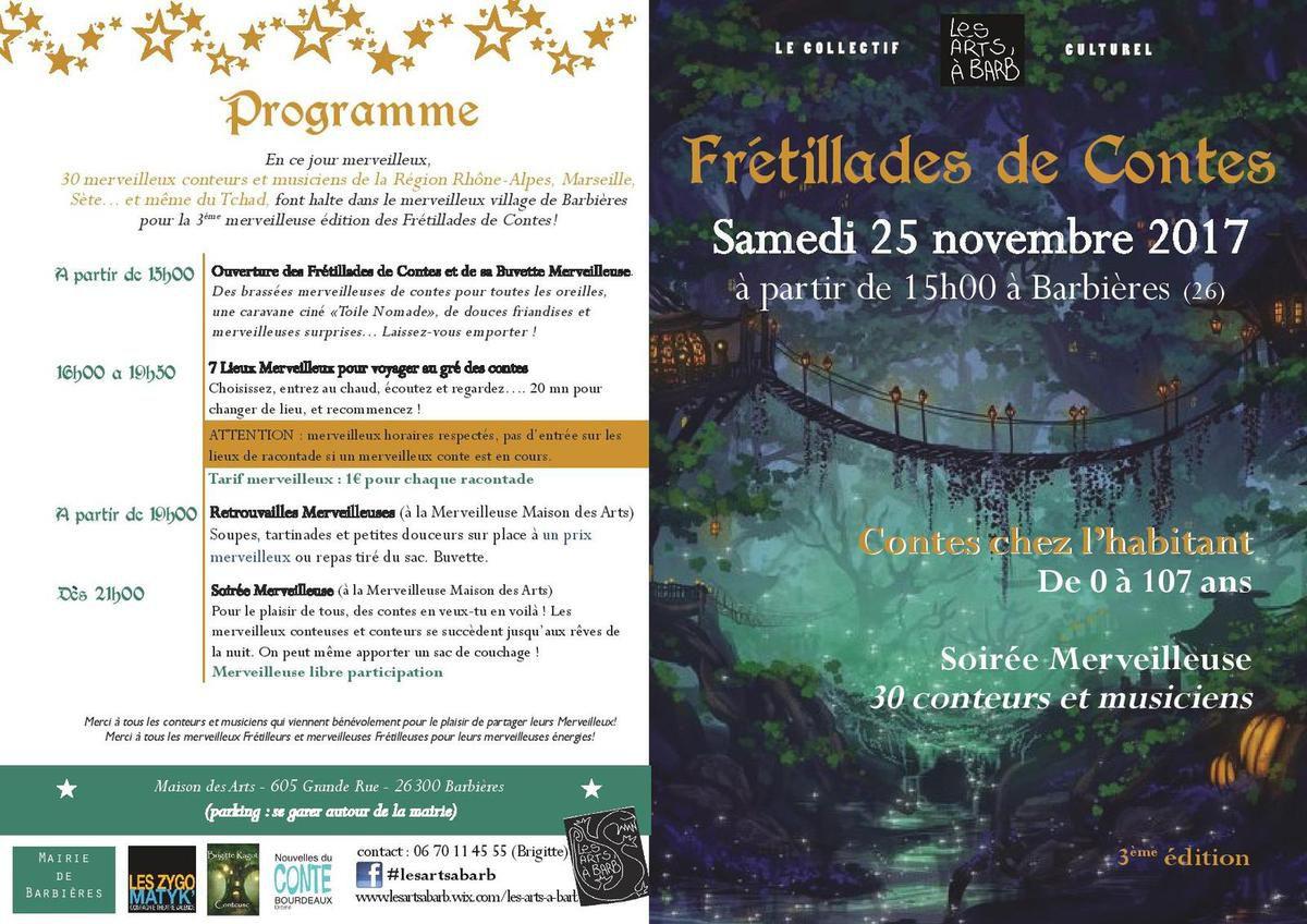 MERVEILLEUSES FRÉTILLADES DE CONTES à Barbières  Samedi 25 Novembre