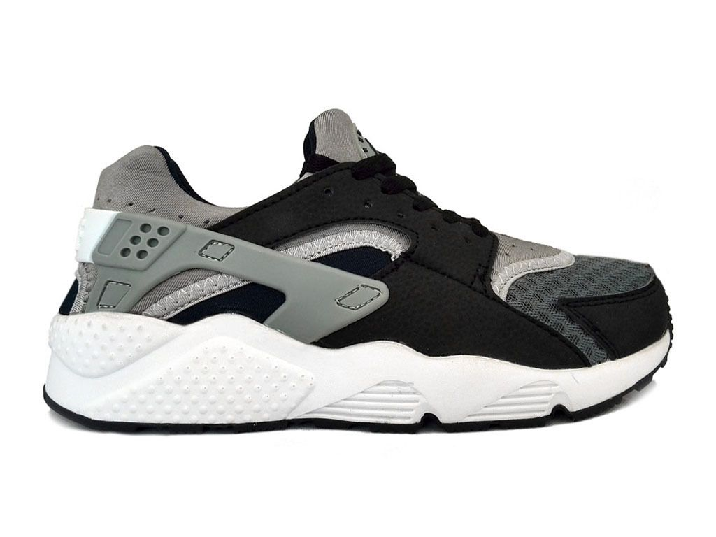 nike air huarache chaussures nike sportswear pas cher pour homme noir blanc 318429 141. Black Bedroom Furniture Sets. Home Design Ideas