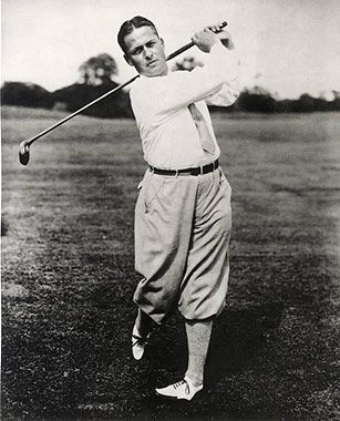Bobby Jones, vainqueur du grand chelem (US Open et British Open) en 1930