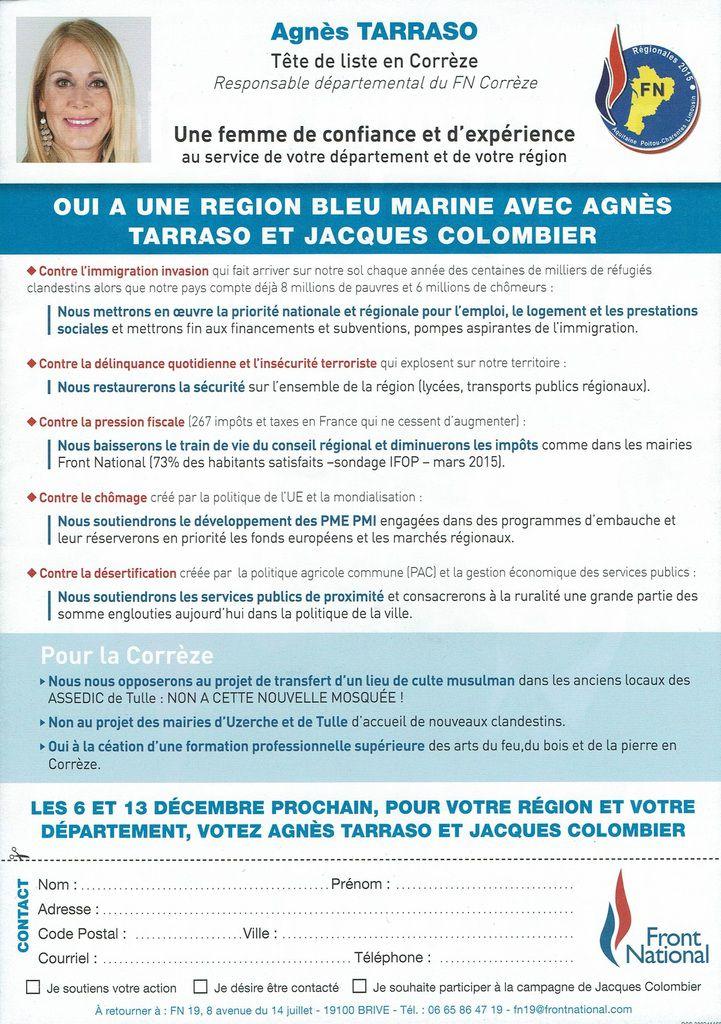 POUR NOTRE RÉGION ET POUR LA FRANCE AGISSONS !