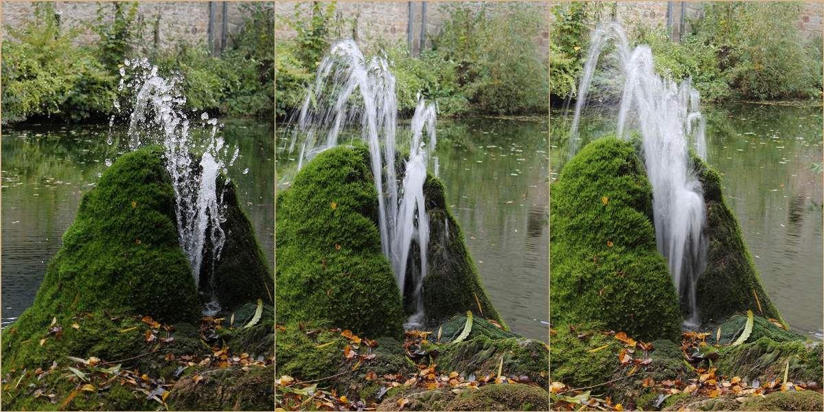 Der Brunnen - verschiedene Belichtungszeiten
