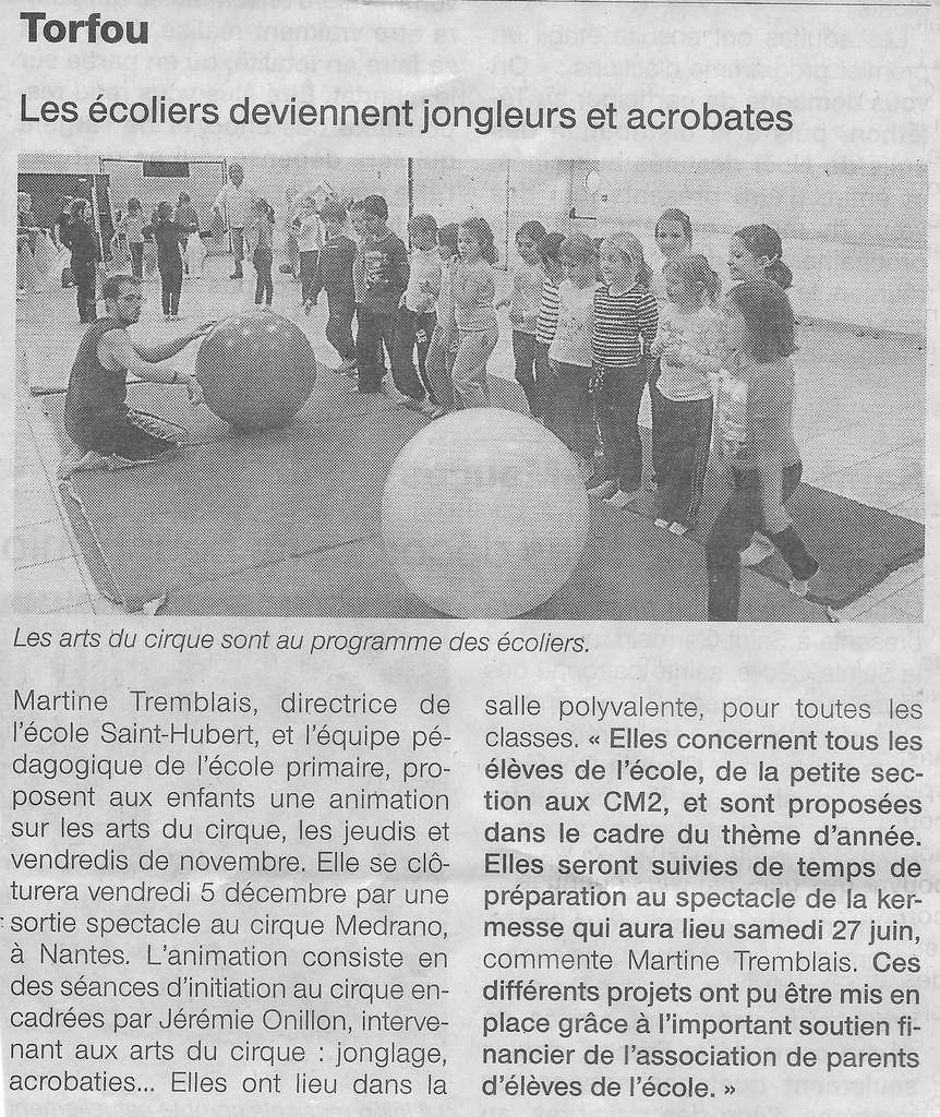 Article Ouest France du 17/11/2014