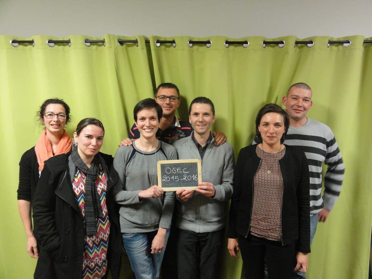 De gauche à droite: Hélène FONTENEAU, Corinne GENETE, Béatrice BARREAU, Eric FILLAUDEAU, Bertrand GUERIN, Caroline MANCEAU, Anthony RIPOCHE