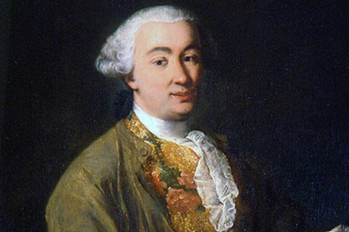 Ritratto di Carlo Goldoni, grande Commediografo, che nel 1719 andò a studiare a Perugia