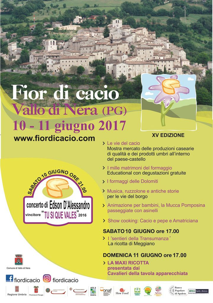 Fior di Cacio 2017 in Umbria a Vallo di Nera 10 e 11 giugno