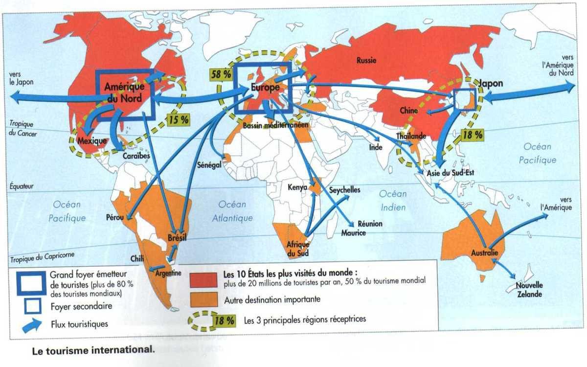 tourisme dans le monde - Image